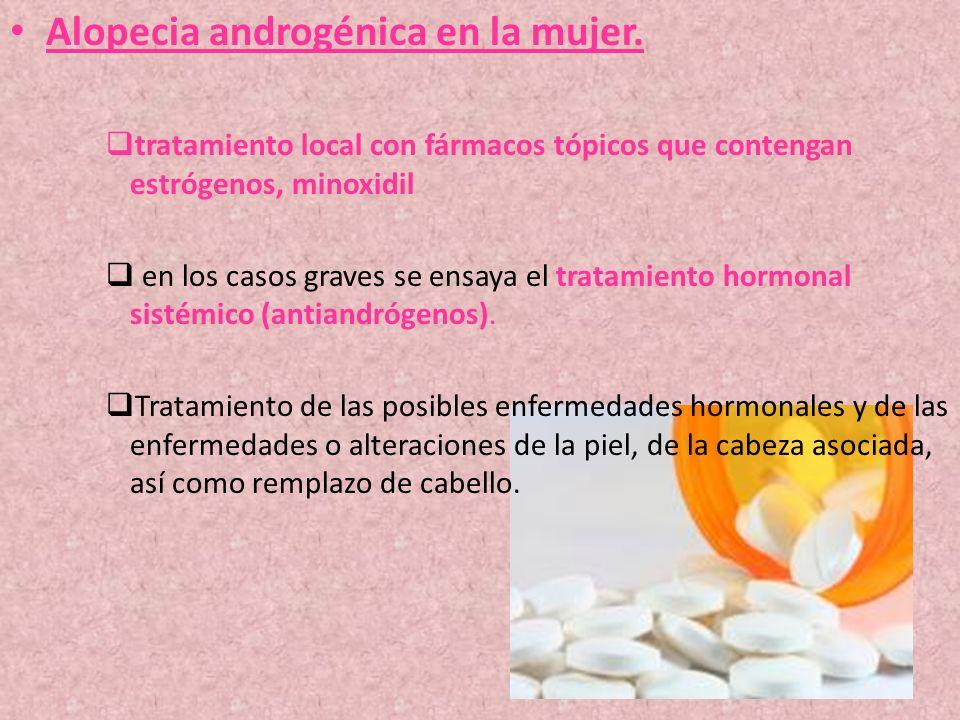 Alopecia androgénica en la mujer.