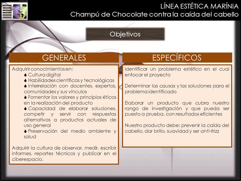 GENERALES ESPECÍFICOS LÍNEA ESTÉTICA MARÍNIA