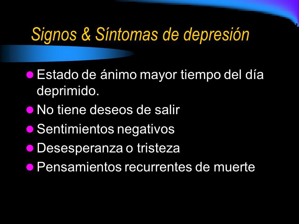 Signos & Síntomas de depresión