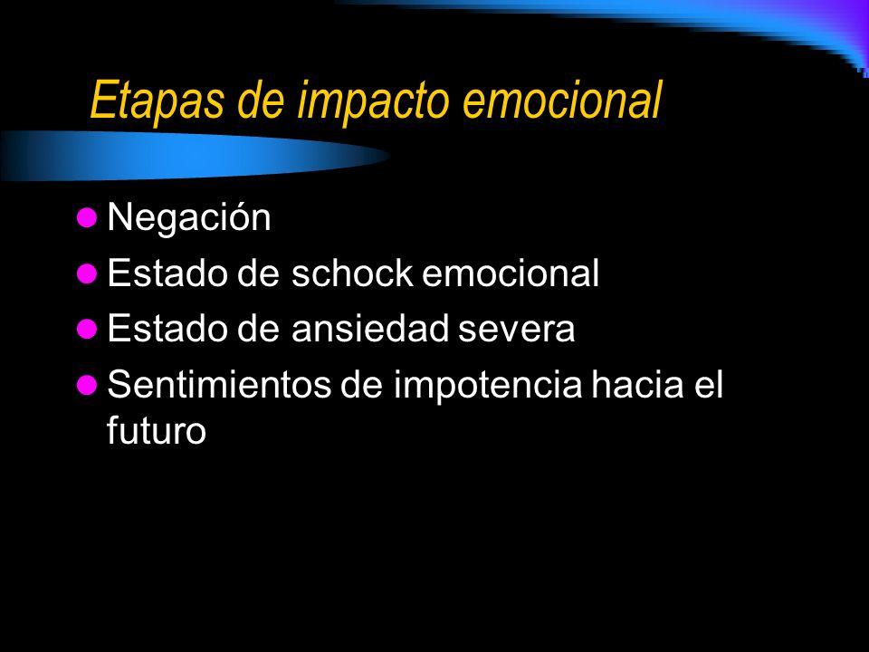 Etapas de impacto emocional
