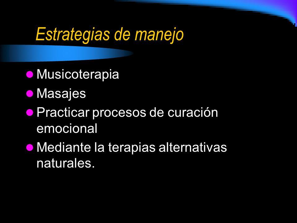 Estrategias de manejo Musicoterapia Masajes