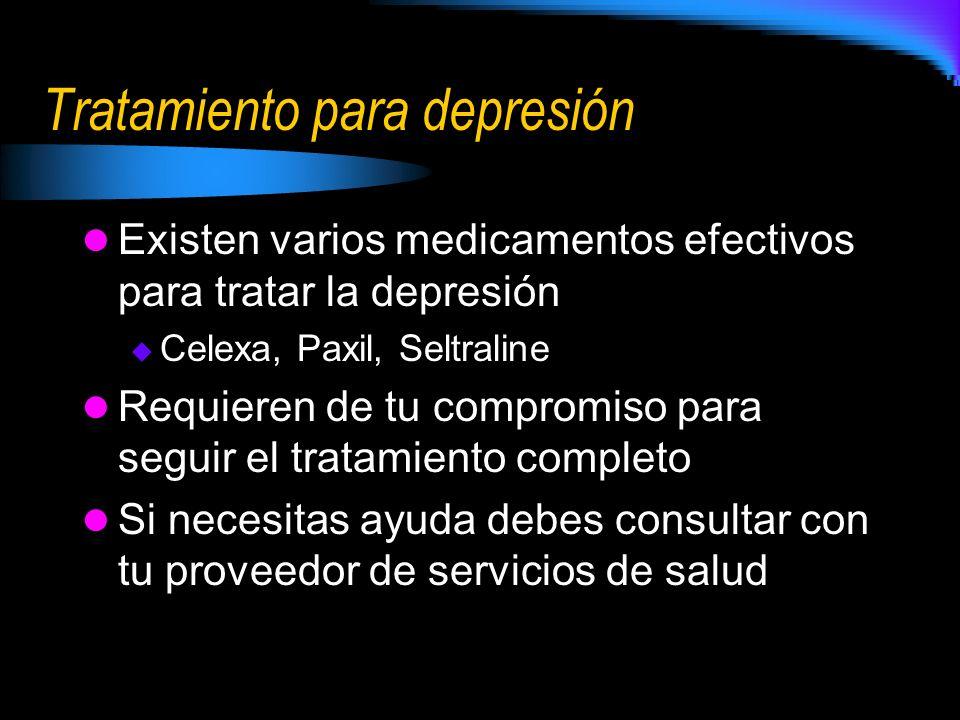 Tratamiento para depresión