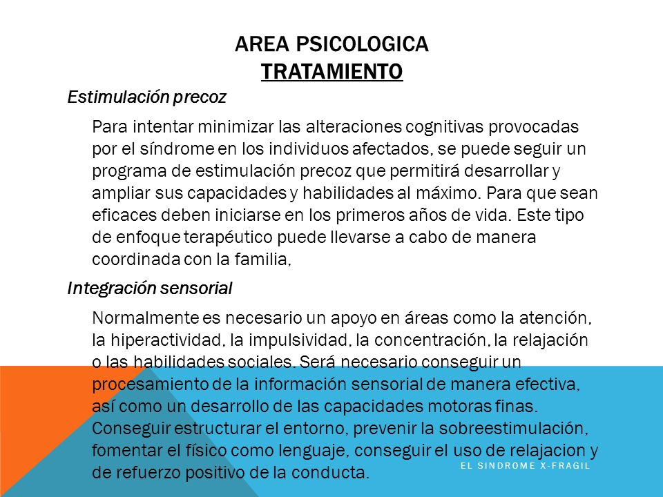 Area PSICOLOGICA TRATAMIENTO