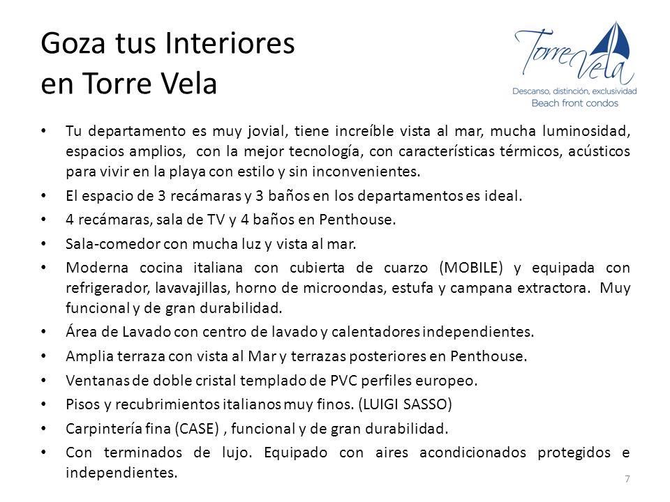Goza tus Interiores en Torre Vela