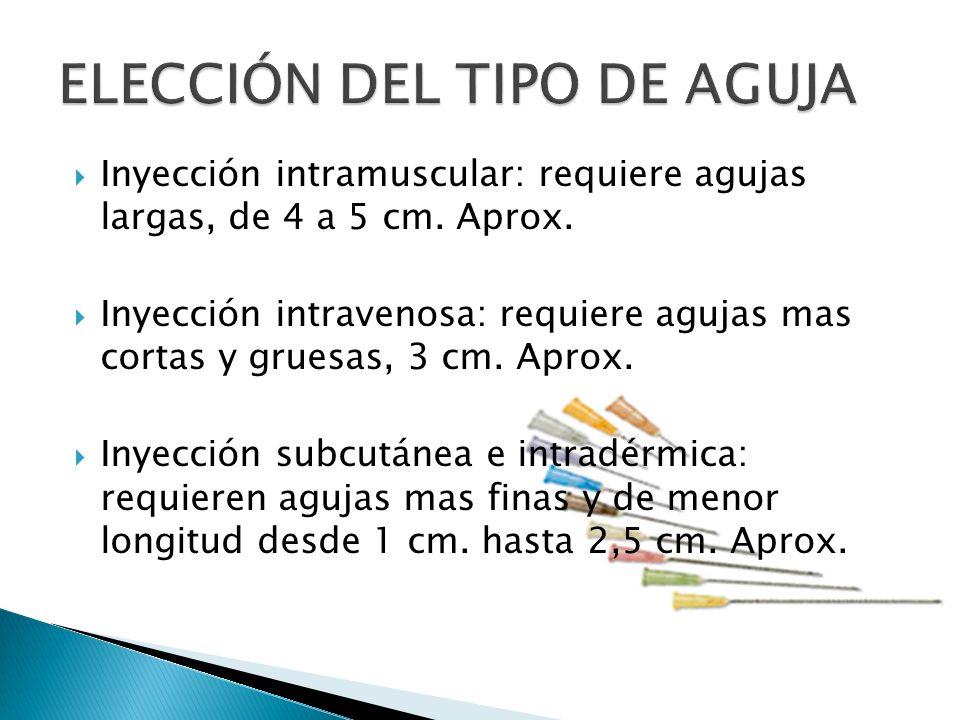 ELECCIÓN DEL TIPO DE AGUJA