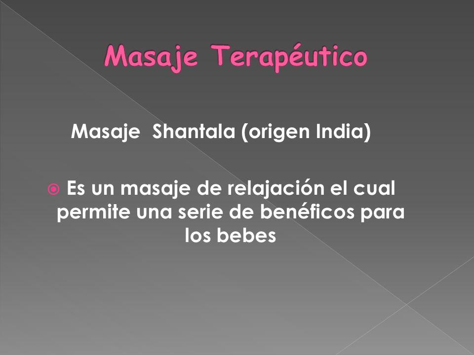 Masaje Shantala (origen India)