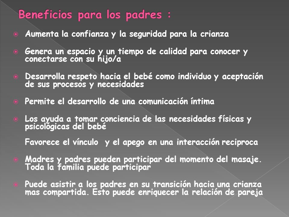 Beneficios para los padres :