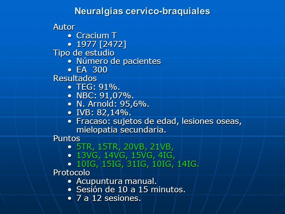 Neuralgias cervico-braquiales