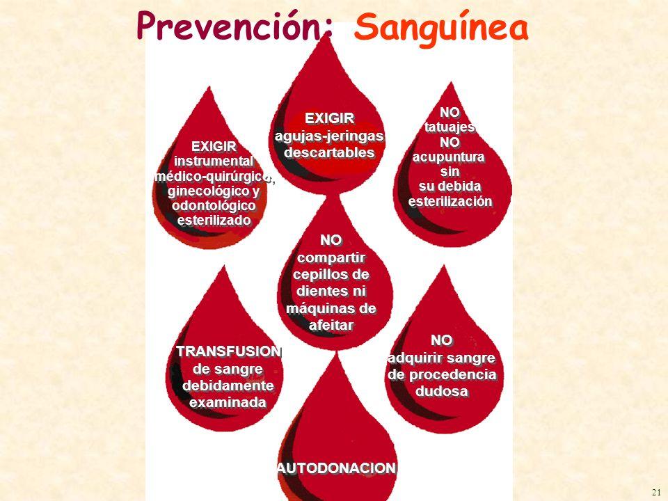 Prevención: Sanguínea