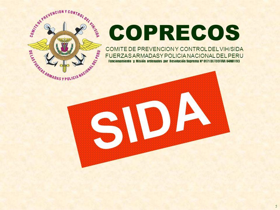 SIDA COPRECOS COMITE DE PREVENCION Y CONTROL DEL VIH/SIDA