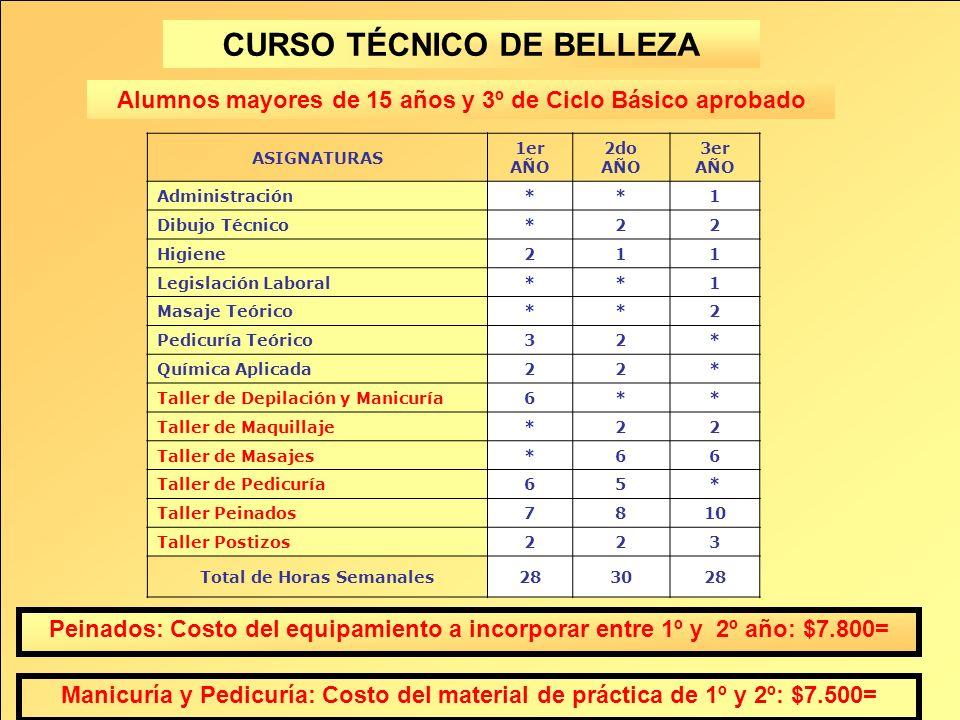 CURSO TÉCNICO DE BELLEZA