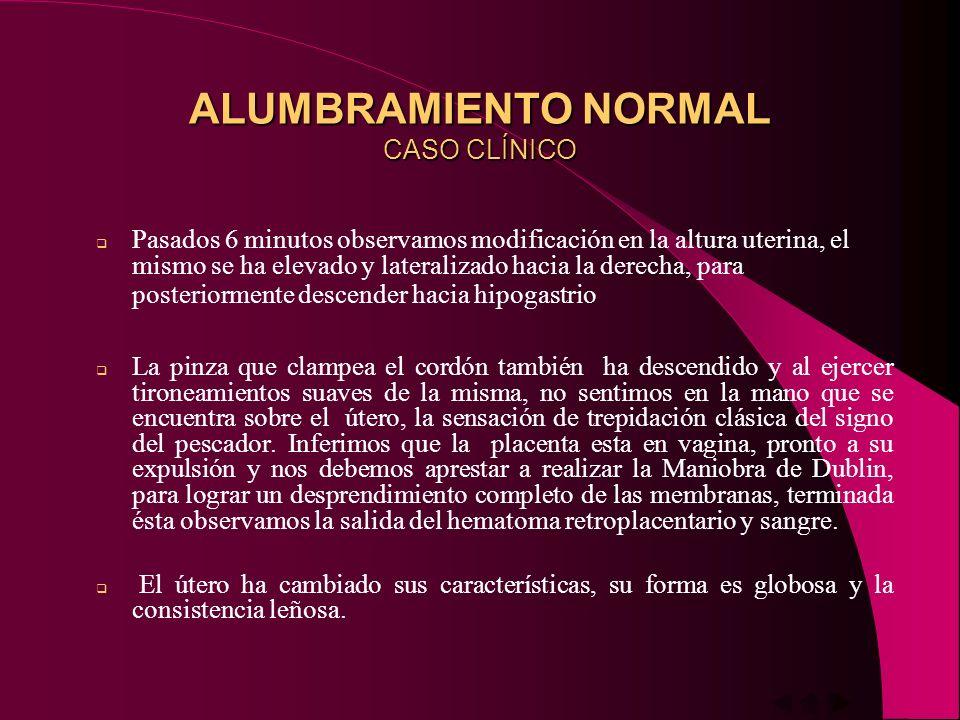 ALUMBRAMIENTO NORMAL CASO CLÍNICO