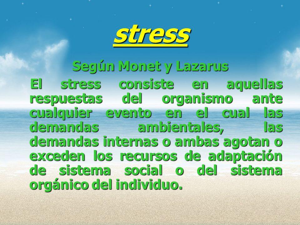 stress Según Monet y Lazarus