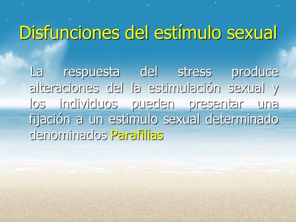 Disfunciones del estímulo sexual