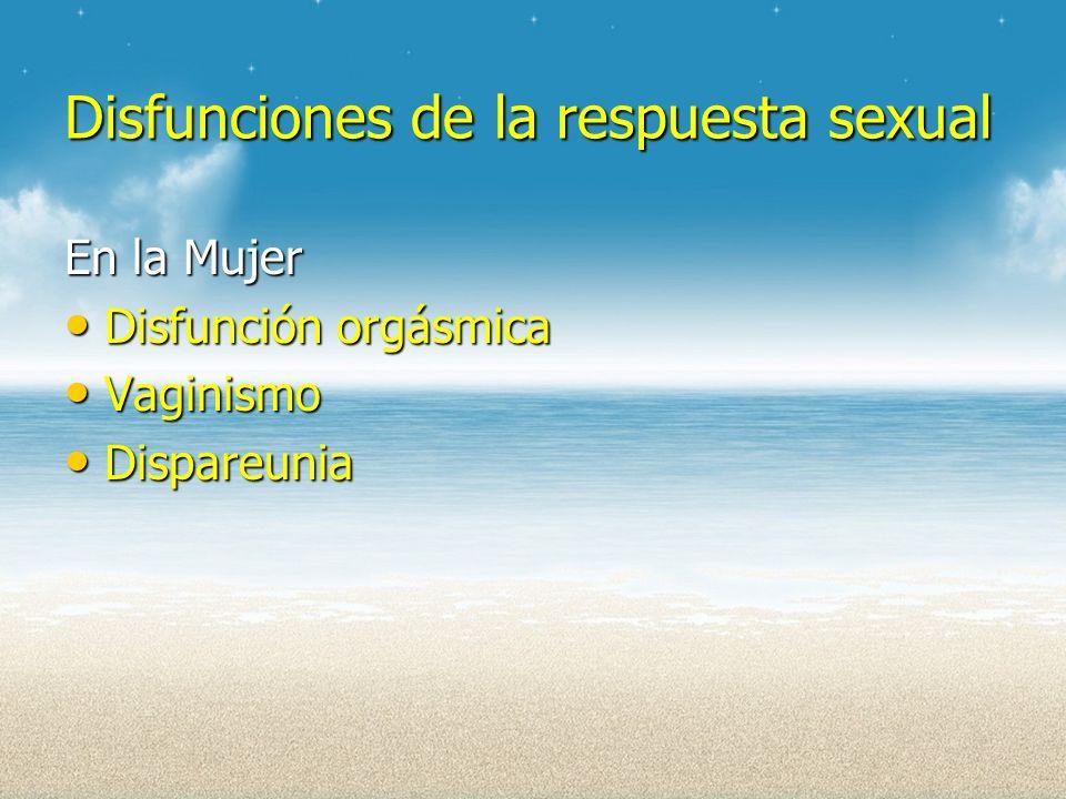 Disfunciones de la respuesta sexual