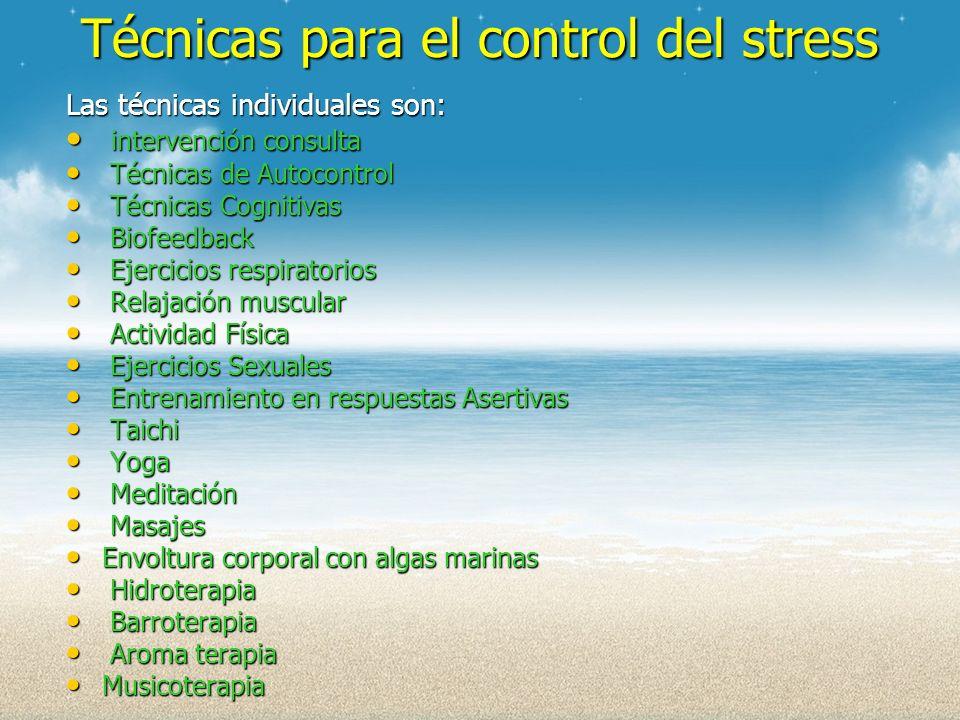 Técnicas para el control del stress
