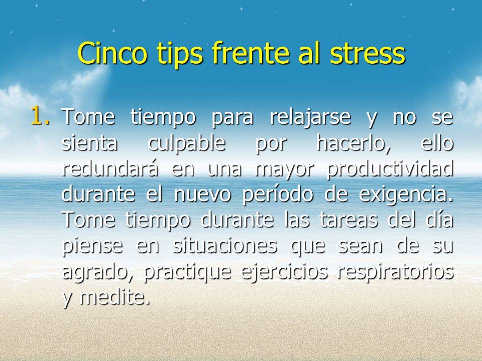 Cinco tips frente al stress