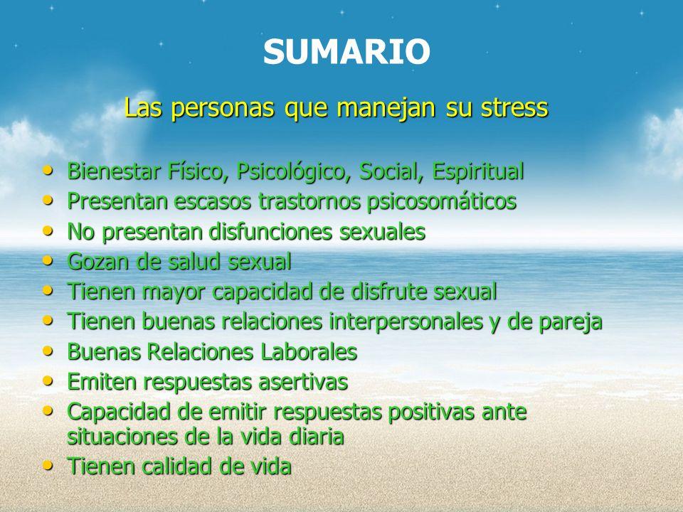 Las personas que manejan su stress