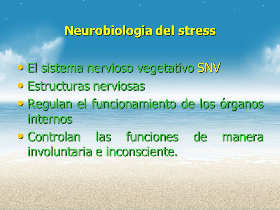 Neurobiologia del stress