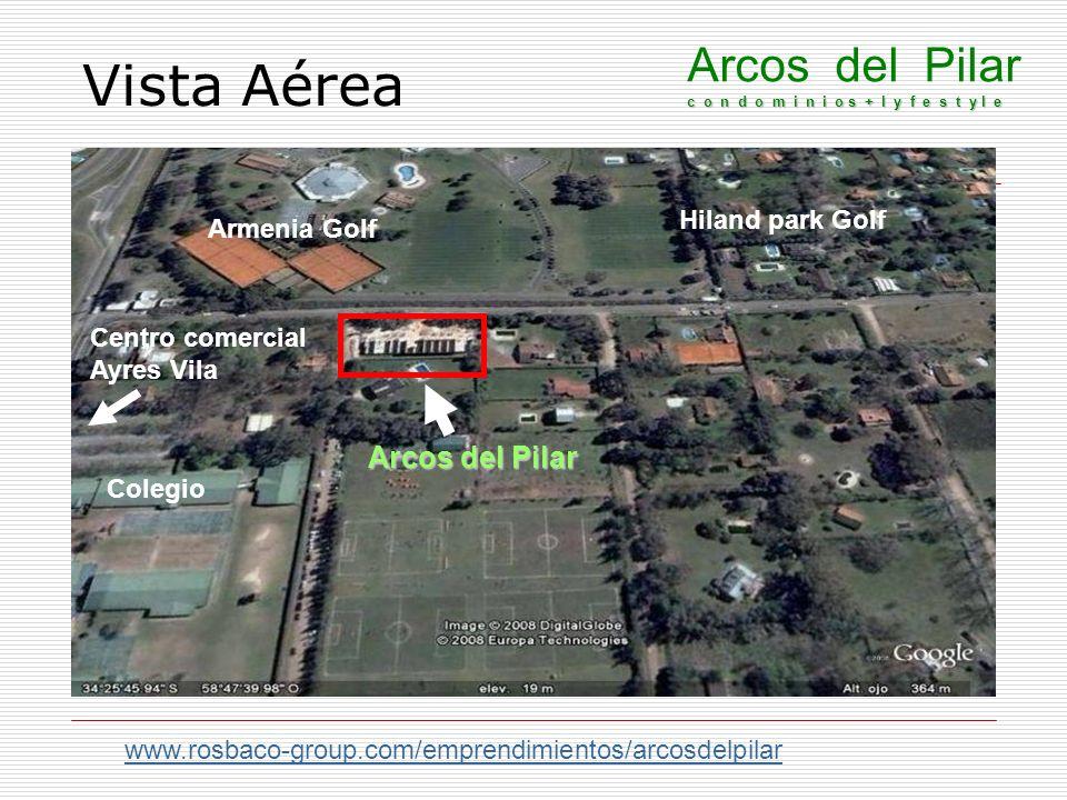 Vista Aérea Arcos del Pilar c o n d o m i n i o s + l y f e s t y l e