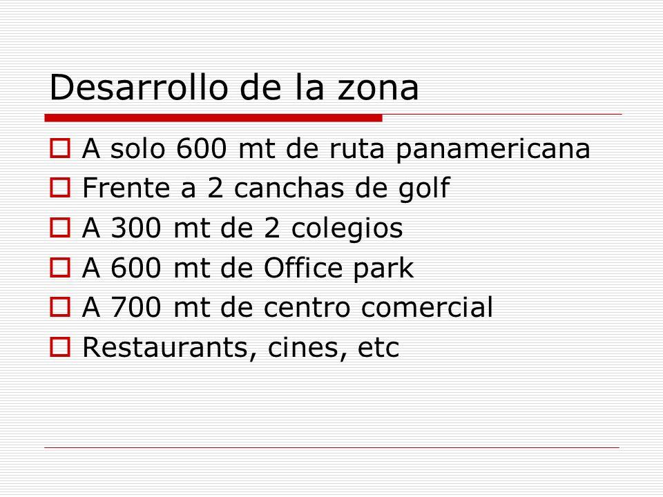 Desarrollo de la zona A solo 600 mt de ruta panamericana