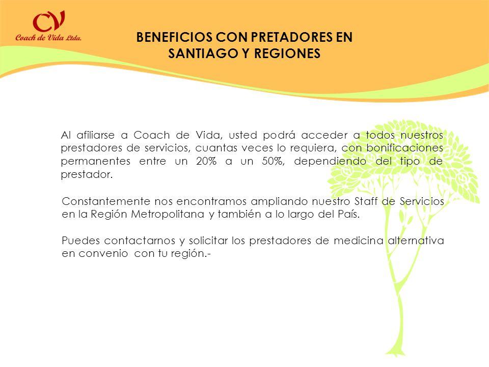 BENEFICIOS CON PRETADORES EN SANTIAGO Y REGIONES