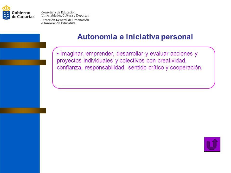 Autonomía e iniciativa personal