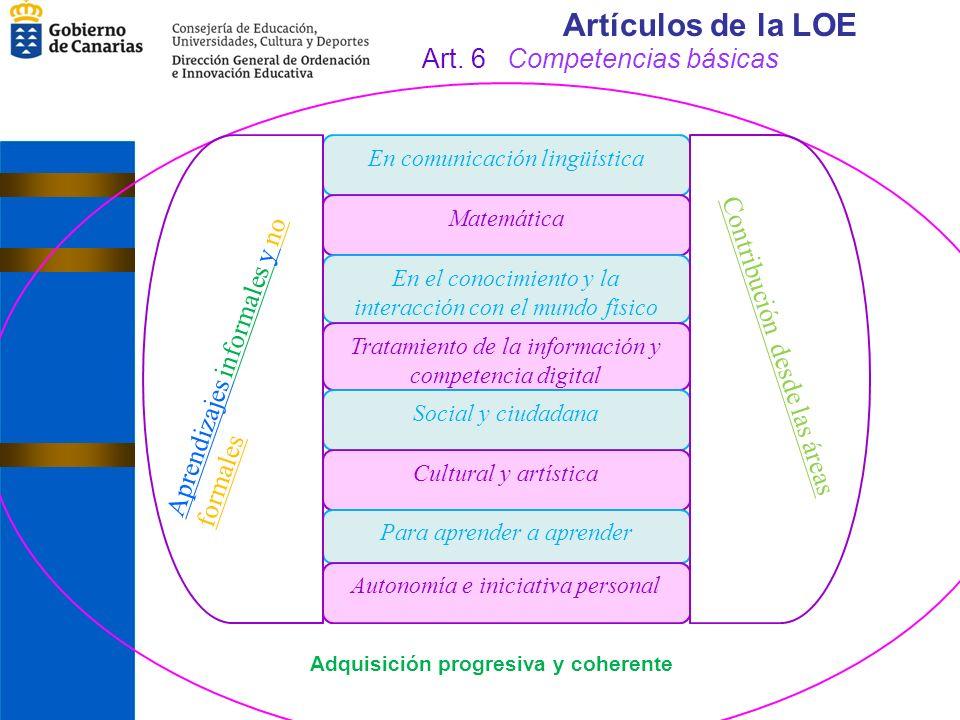 Artículos de la LOE Art. 6 Competencias básicas