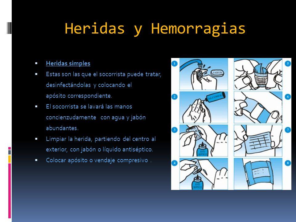 Heridas y Hemorragias Heridas simples