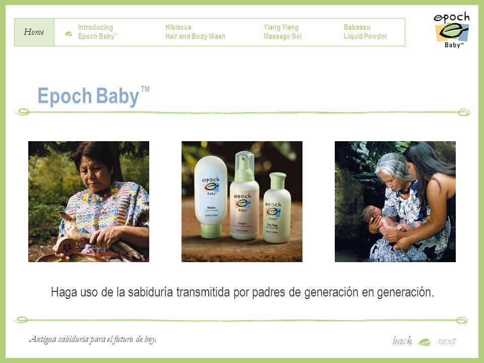 Epoch Baby™ Haga uso de la sabiduría transmitida por padres de generación en generación.