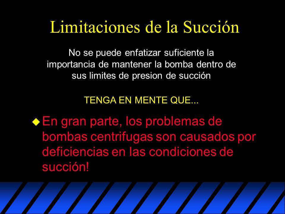 Limitaciones de la Succión