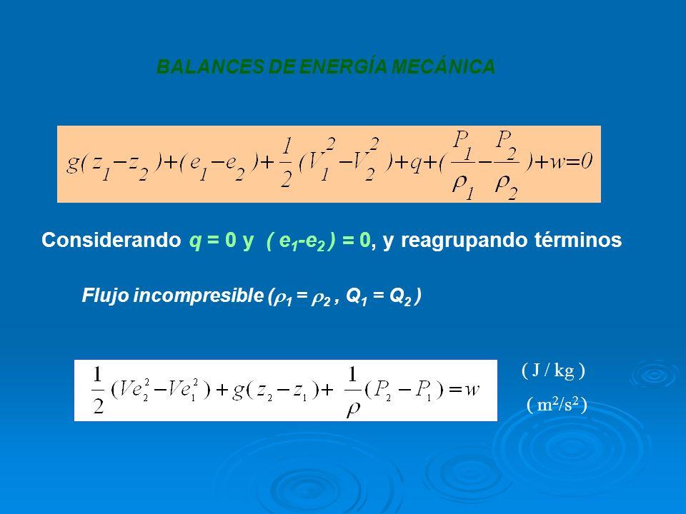 Considerando q = 0 y ( e1-e2 ) = 0, y reagrupando términos