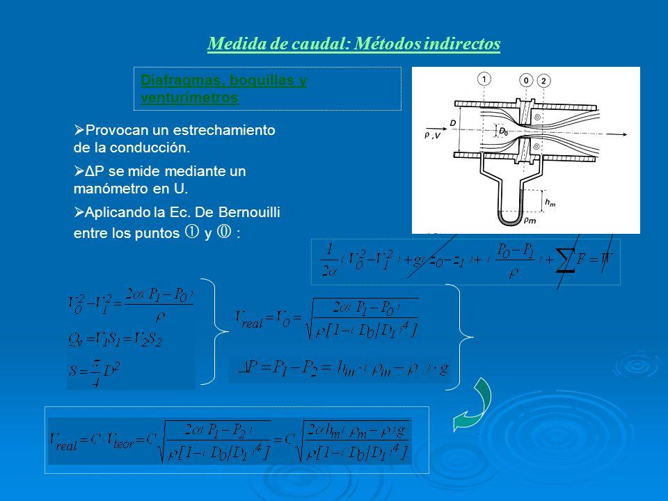Medida de caudal: Métodos indirectos