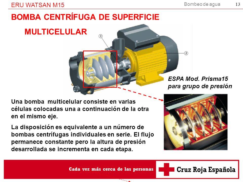 BOMBA CENTRÍFUGA DE SUPERFICIE MULTICELULAR
