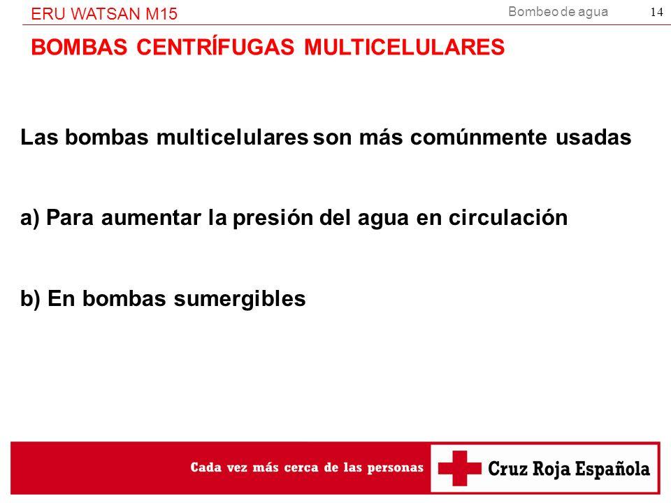 BOMBAS CENTRÍFUGAS MULTICELULARES