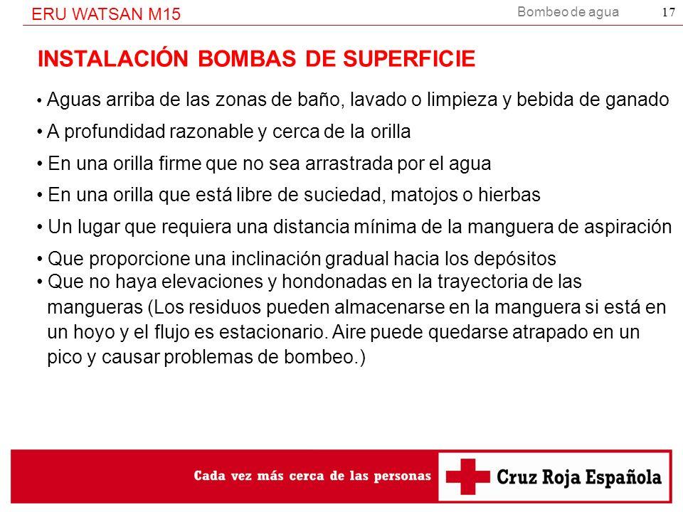 INSTALACIÓN BOMBAS DE SUPERFICIE