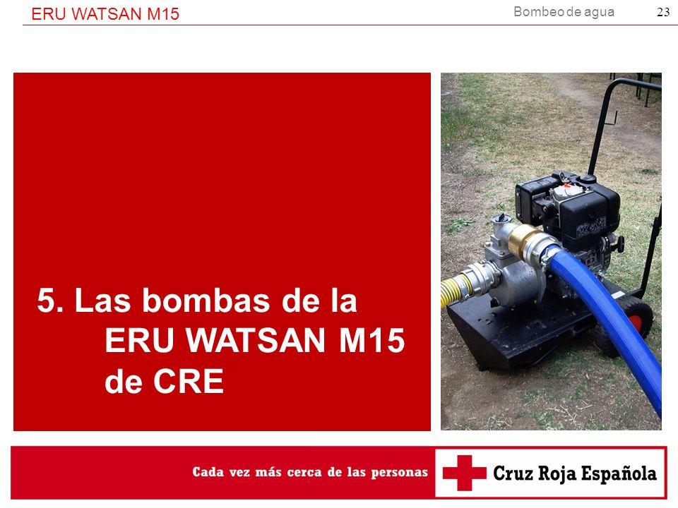 5. Las bombas de la ERU WATSAN M15