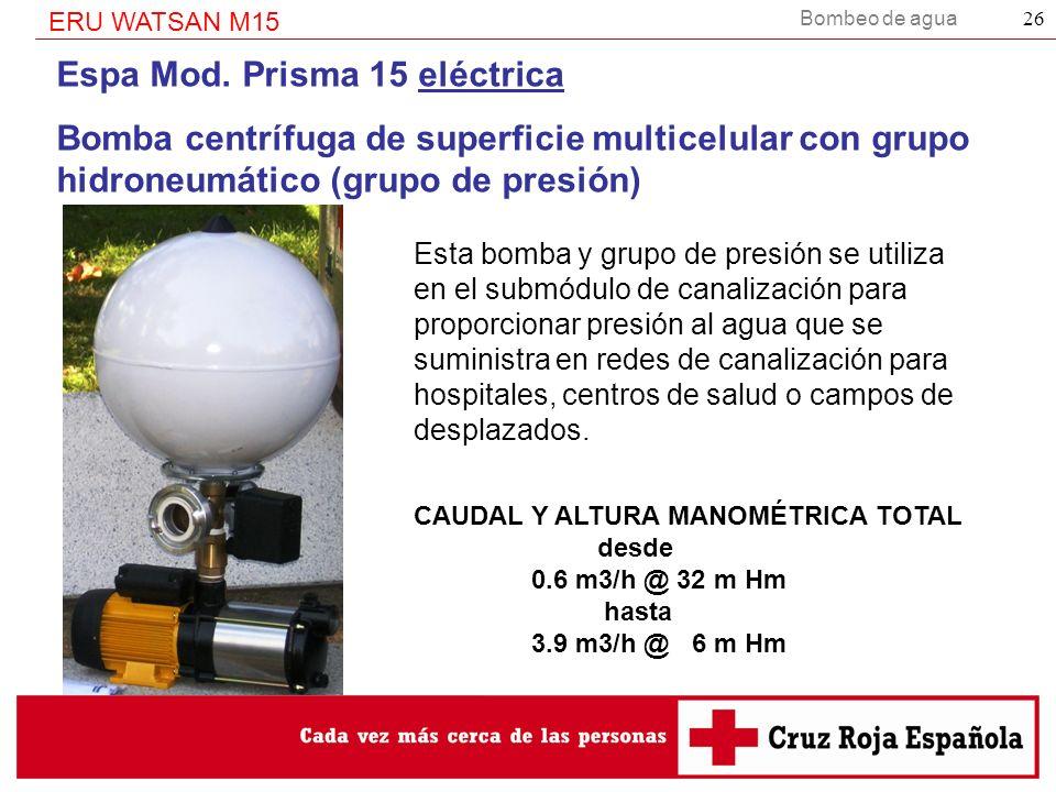 Espa Mod. Prisma 15 eléctrica