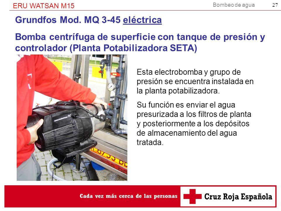 Grundfos Mod. MQ 3-45 eléctrica