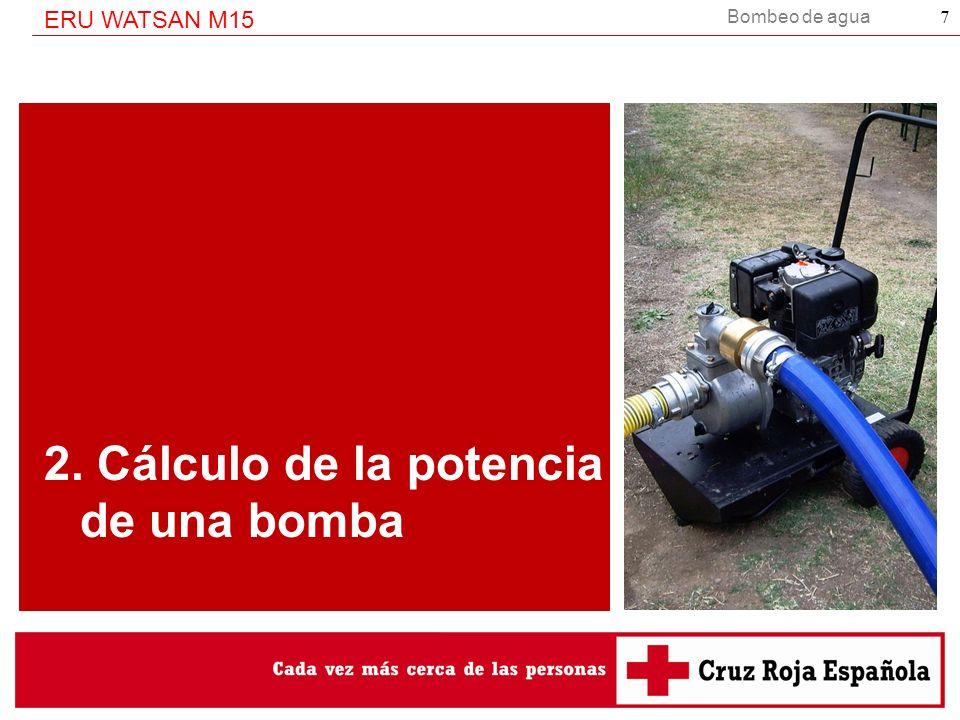 2. Cálculo de la potencia de una bomba