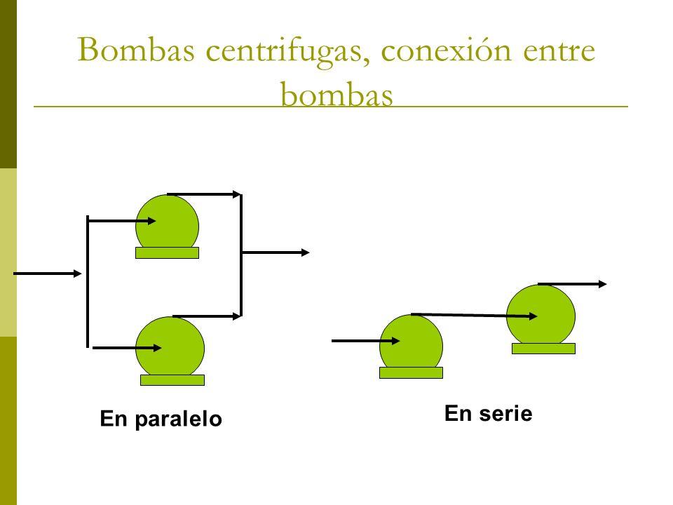 Bombas centrifugas, conexión entre bombas