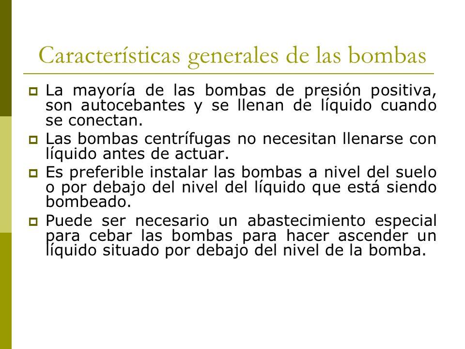 Características generales de las bombas