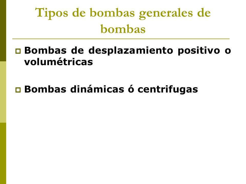 Tipos de bombas generales de bombas