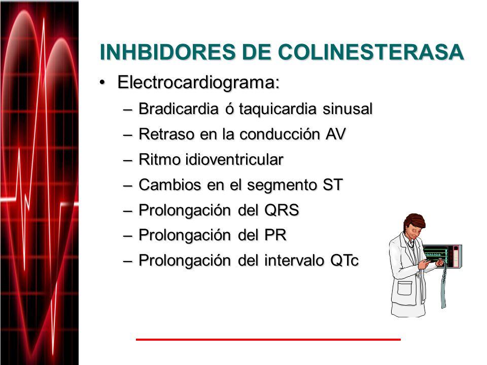 INHBIDORES DE COLINESTERASA