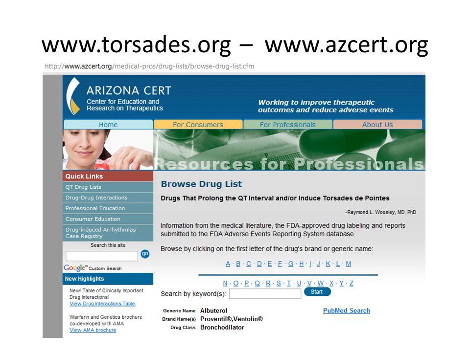 www.torsades.org – www.azcert.org