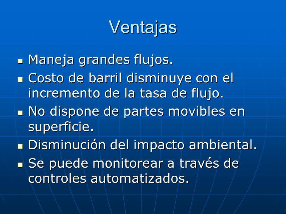 Ventajas Maneja grandes flujos.