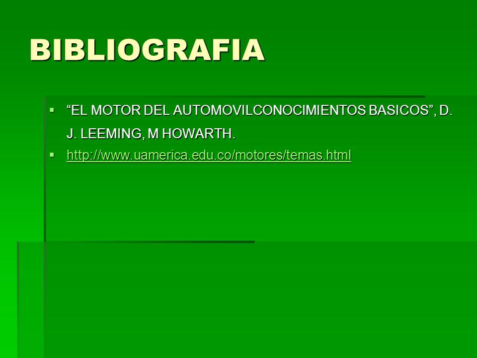 BIBLIOGRAFIA EL MOTOR DEL AUTOMOVILCONOCIMIENTOS BASICOS , D.