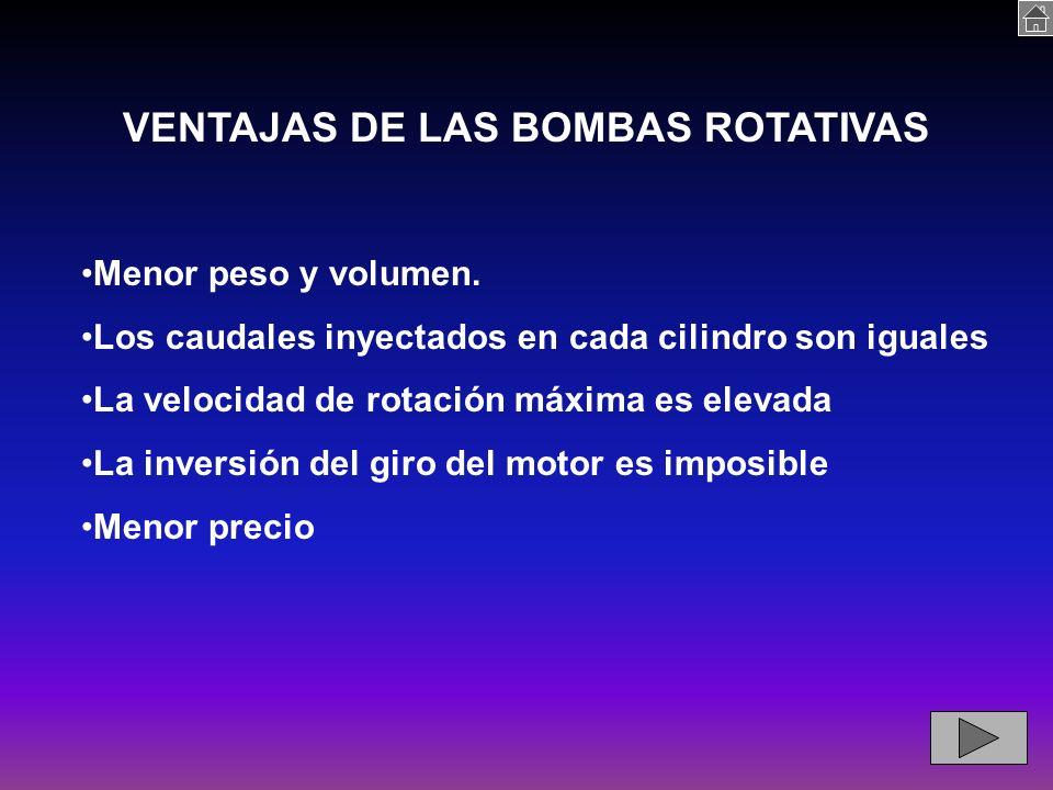 VENTAJAS DE LAS BOMBAS ROTATIVAS
