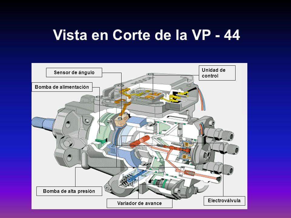 Vista en Corte de la VP - 44 Unidad de control Sensor de ángulo