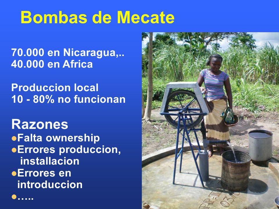 Bombas de Mecate Razones 70.000 en Nicaragua,.. 40.000 en Africa